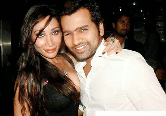Sofia Hayat with her ex-boyfriend Rohit Sharma