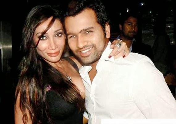 Sofia Hayat with her ex-boyfriend Rohit Sharma
