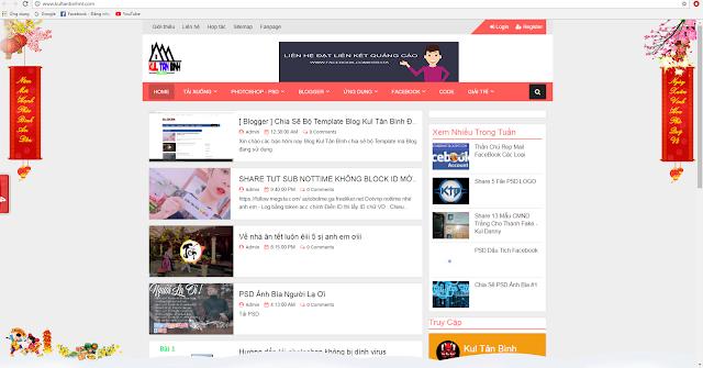 [ HTML/BLOG ] Trang Trí Banner 2 Bên Chúc Tết Cho Blog/Website