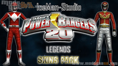 Pack de Skins Power Rangers 20 Legends
