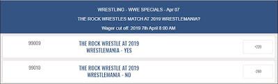 WWE Prop Bet - Rock To Wrestle At WrestleMania 35
