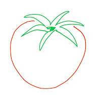 アイコン 「プチトマト」 (作: 塚原 美樹) ~ プチトマトは本体が縦長