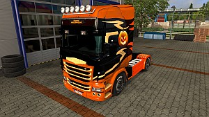 Scania RJL Happy Halloween (EviL)