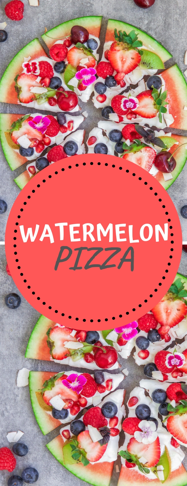 WATERMELON PIZZA #healthysnack