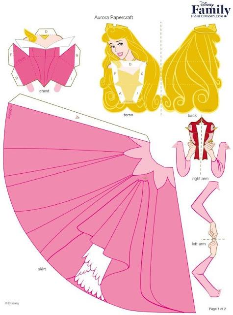 DIY - Disney princess Doll in Paper | Papercraft