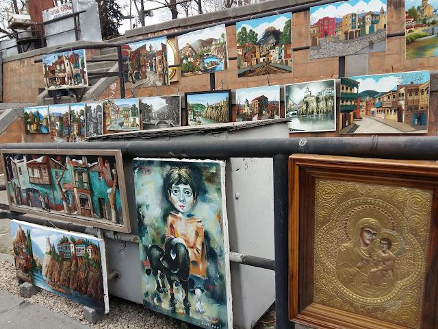 ярмарка художников на сухом мосту