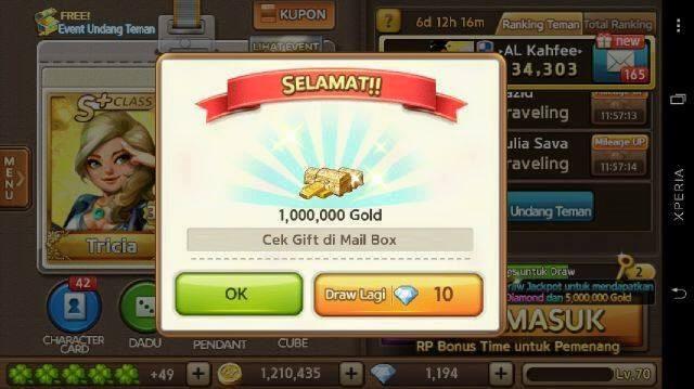 Cara Mendapat 1,000,000 Gold LINE Lets Get Rich Gratis