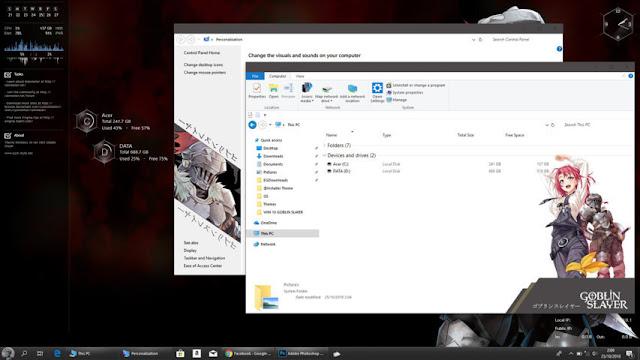 Windows 10 Ver. 1803 Theme Goblin Slayer by Bashkara