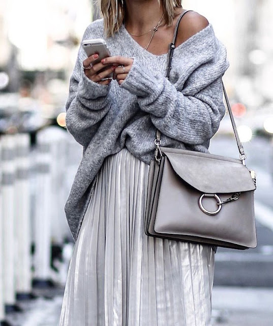 Silver-Pleated-Skirt