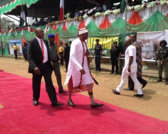 Fayose in igbo wear