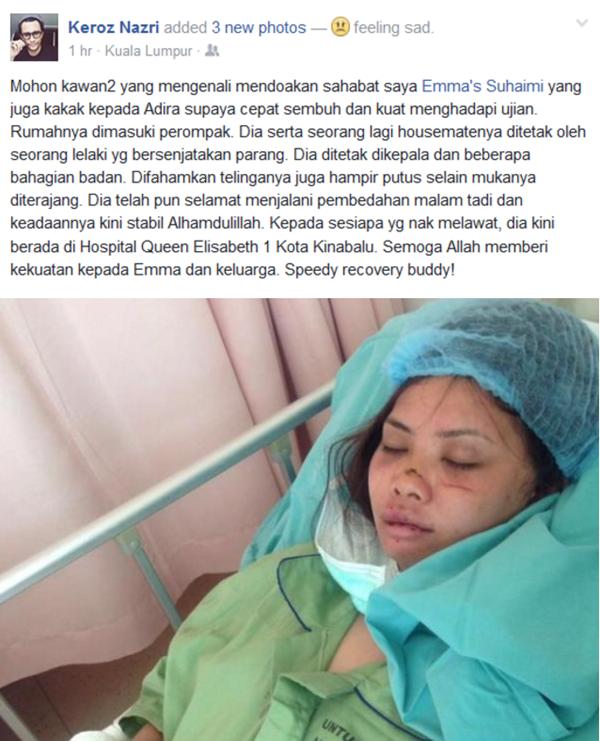 GEMPAR! Inilah PUNCA SEBENAR Kakak Adira AF Parah Ditetak Dengan Parang
