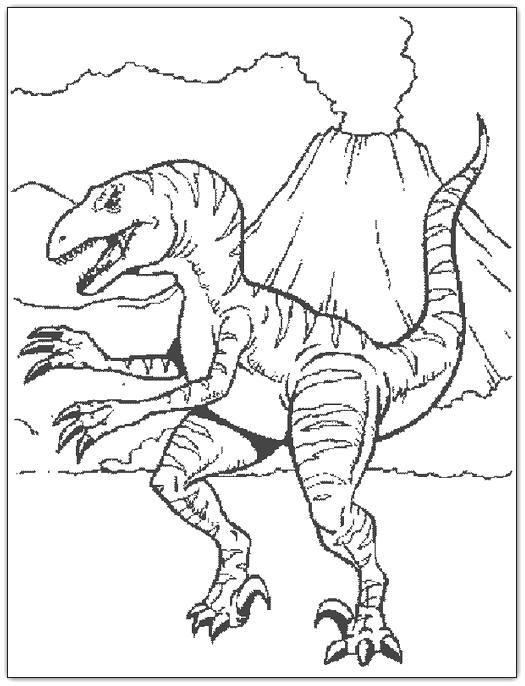 O mundo colorido: Imagens de dinossauros para imprimir e