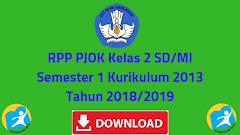 RPP PJOK Kelas 2 SD/MI Semester 1 Kurikulum 2013 Tahun 2018/2019 - Guru Krebet 3
