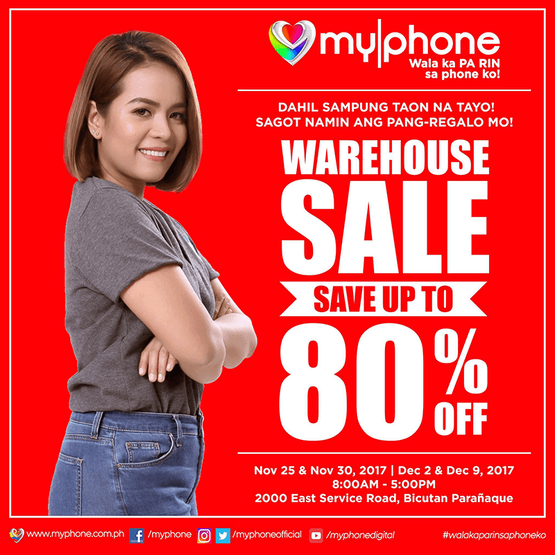 MyPhone announces warehouse sale, enjoy up to 80% off on select items