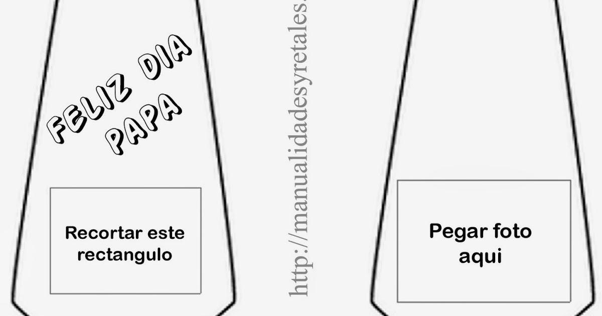 Dibujos De Corbatas Para Imprimir Y Colorear: Manualidades Y Retales: Tarjeta Corbata Con Foto