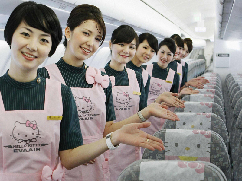Uniknya Pesawat Hello Kitty Di Eva Airways Anyeonghaseo
