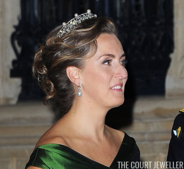 Today S Tiara The Pearl And Diamond Sparkler That Belongs To Princess Claire Is One Of Those Jewels