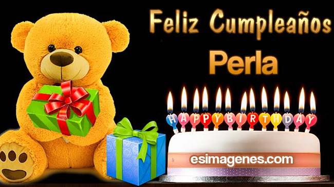 Feliz cumpleaños Perla