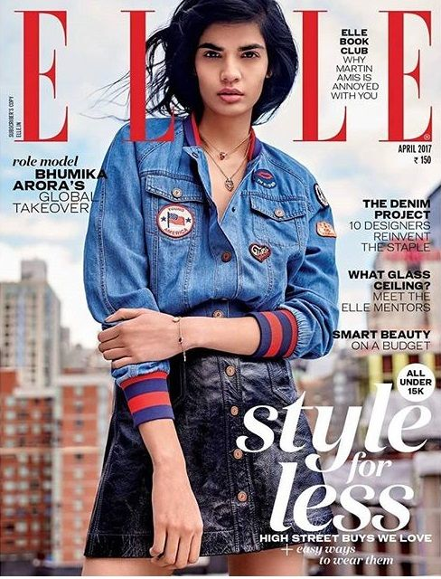 Bhumika Arora On The Cover Of Elle India Magazine April 2017