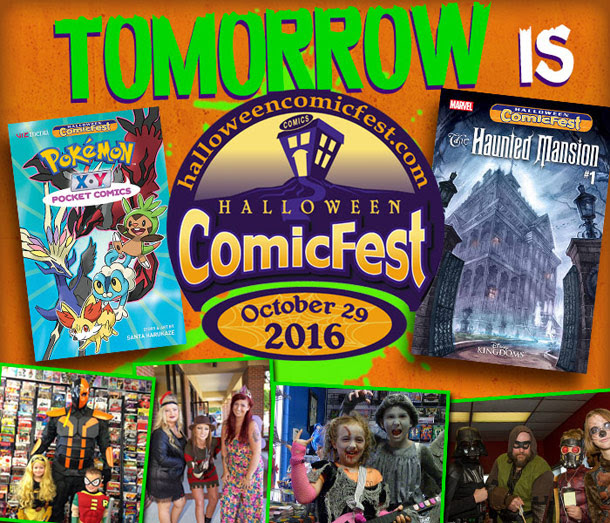 get free comics tomorrow during halloween comic fest
