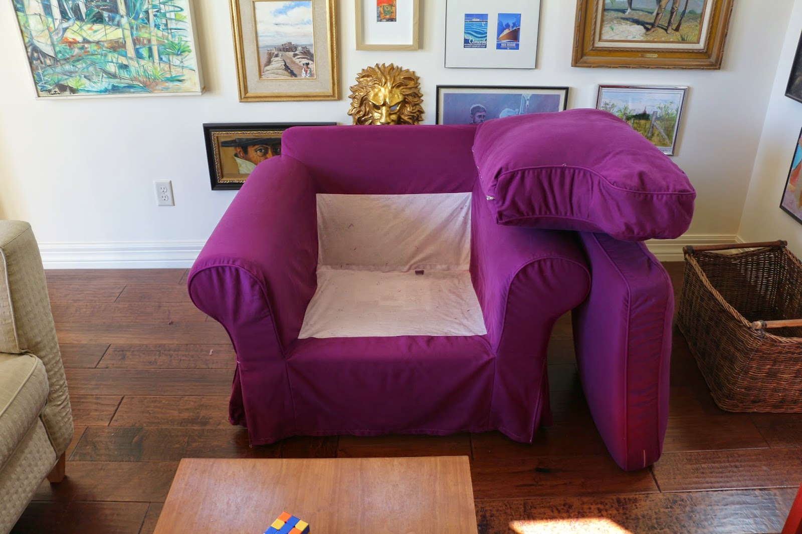Peachy Dusty Coyote Dyeing An Ektorp Slipcover Creativecarmelina Interior Chair Design Creativecarmelinacom