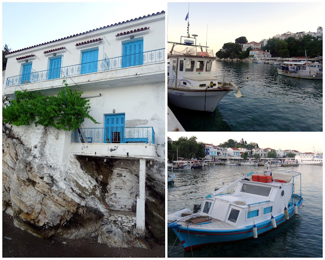 Scenes at the Old Port of Skiathos
