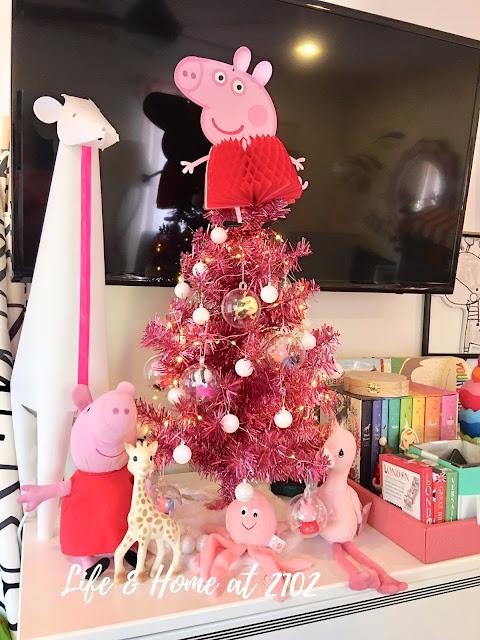 my daughters peppa pig tree