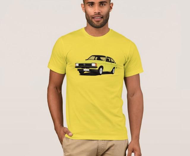 Yellow Cool Opel Kadett C Coupé shirt