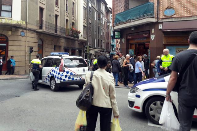 Detención en la calle Juan de Garay