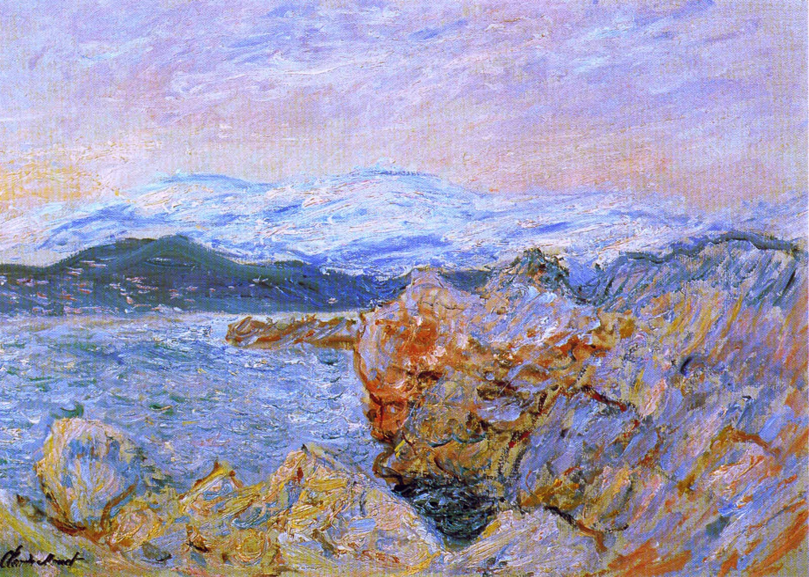 art artists claude monet part 18 1888 1889 claude monet 1888 the gulf juan at antibes oil on canvas 63 5 x 91 cm private collection
