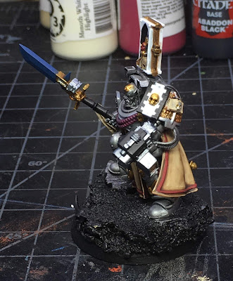 Grey Knight Brother Captain WIP left side more base colors blocked in