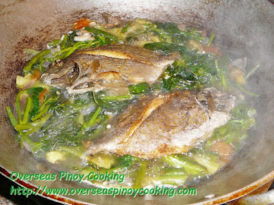 Ginisang Gulay with Pritong Samaral - Cooking Procedure