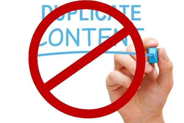 do not duplicate content