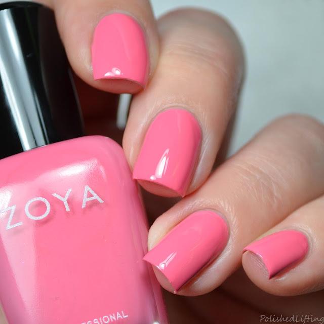 pink creme nail polish
