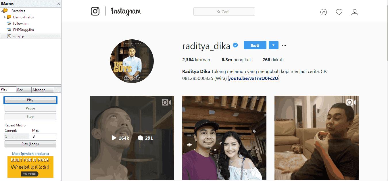 Script Untuk Auto Follow Instagram