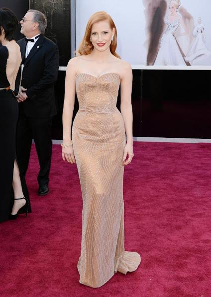 Jessica Chastain wore Armani Prive dress Oscars 2013