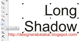 cara membuat long shadow di corel draw x4