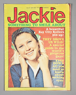 Girls' Jackie annual with 1970s cover photo