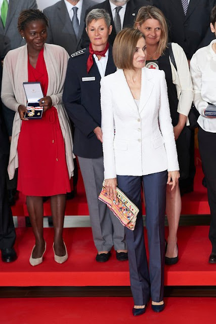 Queen Letizia of Spain attended the Red Cross World Day Commemoration at the Miguel Delibes auditorium on May 8, 2015 in Valladolid, Spain.