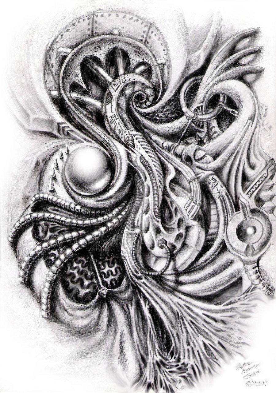 12 great Bio mechanical Tattoo - Tattoo Design Ideas