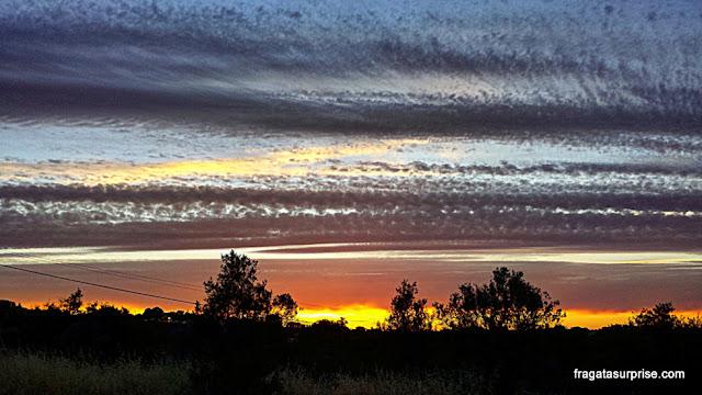 Pôr do sol no Alentejo, Portugal