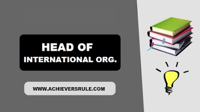 Head of International Organisation 2017 PDF