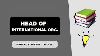 Head of International Organisation 2017 PDF