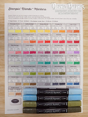 colour me happy: New Stampin Blends colours & chart update