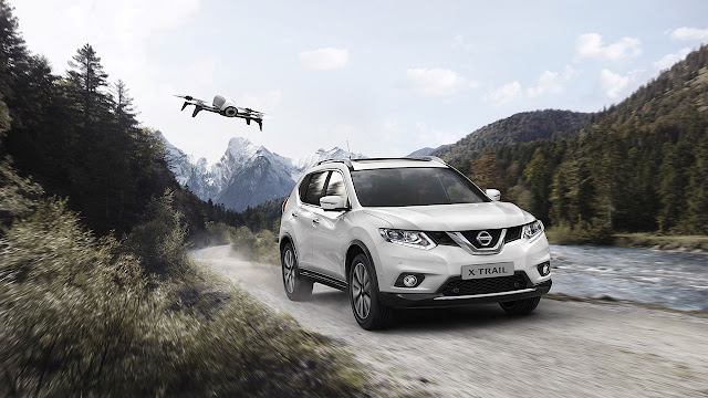 New Nissan X-Trail X-Scape with Parrot Bebop 2 drone
