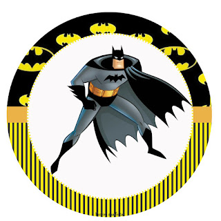 Toppers or Free Printable Candy Bar Batman Party Labels.