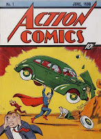 Action Comics #1, in his debut origin tale Superman holds a car above his head and destroys it