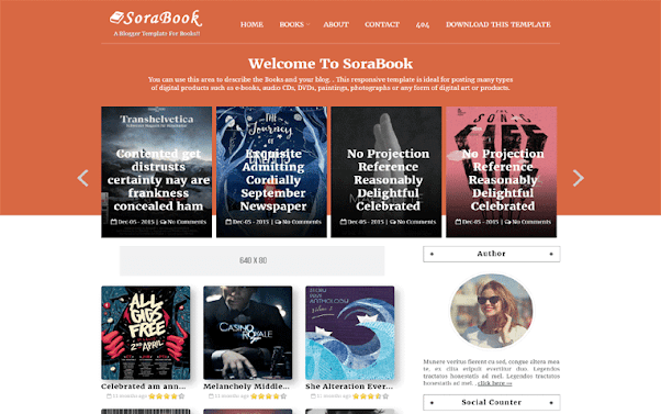 Sora Book Free Blogger Template