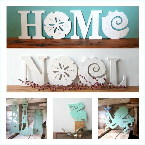 Handmade Coastal Wood Signs and Words