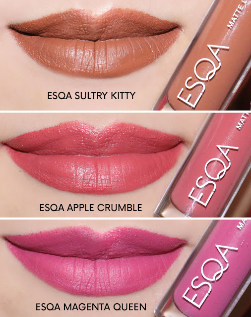 Review ESQA Matte Lip Liquid shades terbaru